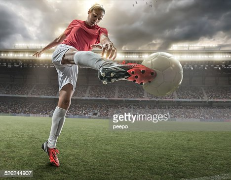 Girl Playing Soccer