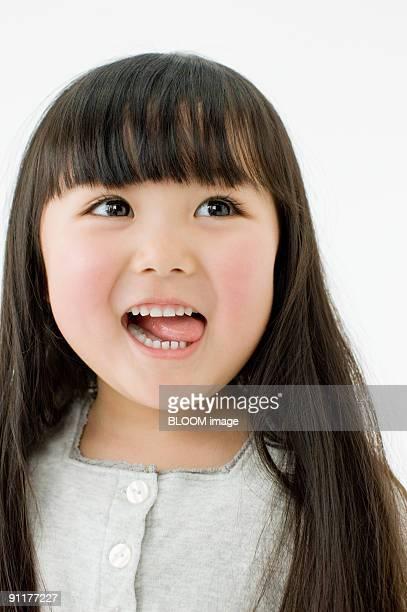 Girl, portrait, close-up, studio shot