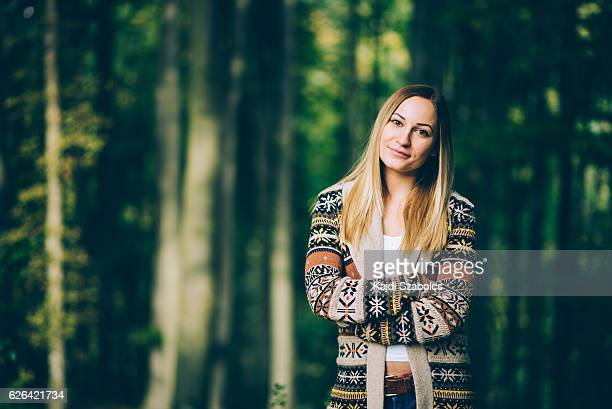 girl portrait in the forest
