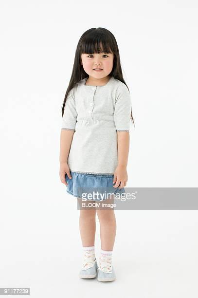 Girl, portrait, studio shot