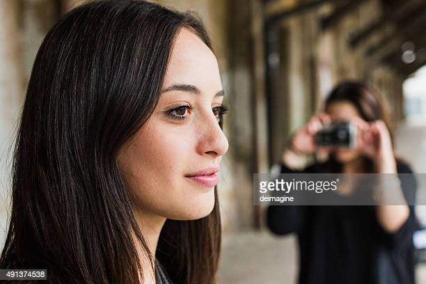 Girl posing while take pictures