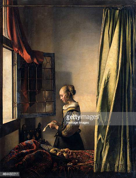 Girl Reading a Letter by an Open Window ca 1659 Found in the collection of the Dresden State Art Collections