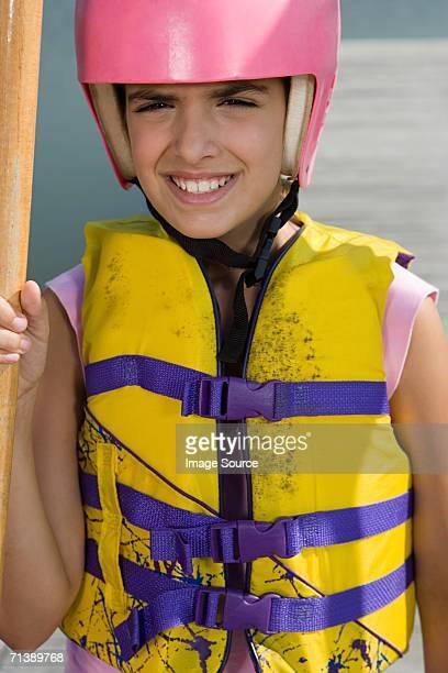 Girl ready for canoeing