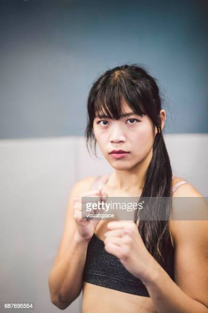Girl Ready to Fight