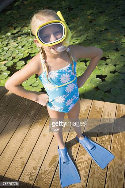 Girl Ready to Snorkel