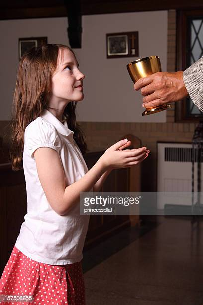 Girl Receiving Holy Communion