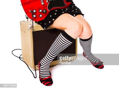 Girl rock : Stock Photo