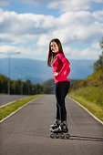 Girl exercising outdoor