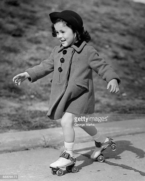 Girl roller-skating