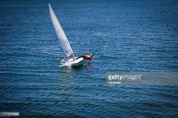 Girl sailing dinghy