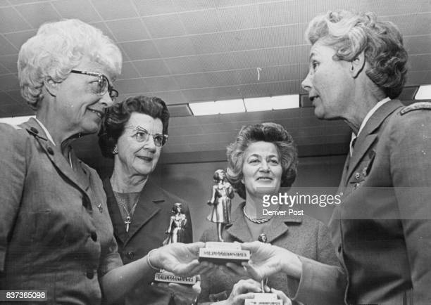 Girl Scout Statuettes Awarded From left Mrs John Gorsuch 105 Albion St Mrs Miles Markiey 1120 Hudson St and Mrs Herbert Zimmerman 43 Albion St are...