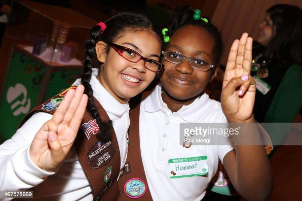 Girl Scouts of the USA kicks off National Girl Scout Cookie Weekend at Vanderbilt Hall in Grand Central Terminal on February 7 2014 in New York City