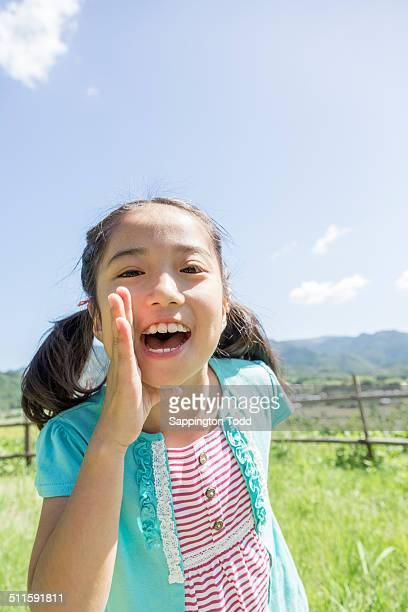 Girl Shouting
