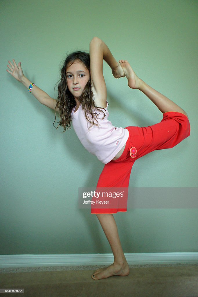 Girl showing flexibility and balance