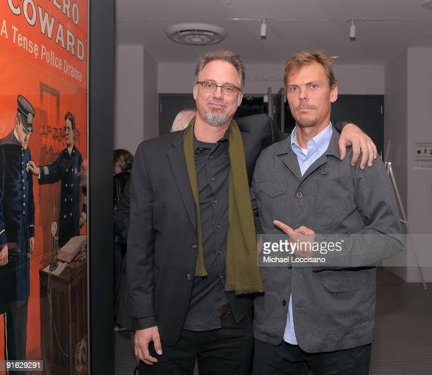 Girl Skateboards Art Director Andy Jenkins and professional skateboarder Rick Howard attend a documentary screening of ''Tell Them Anything You Want...