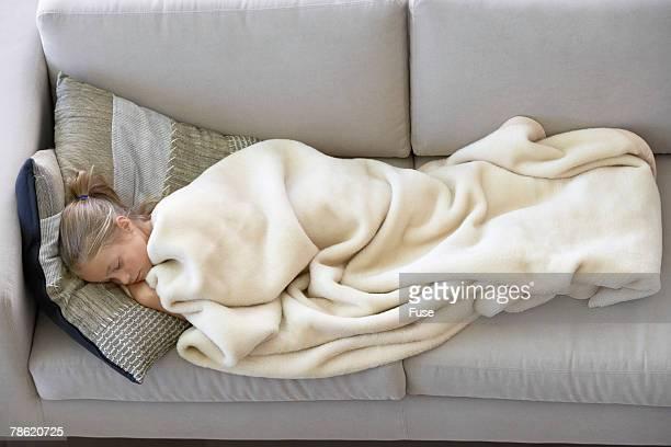 Girl Sleeping on Couch