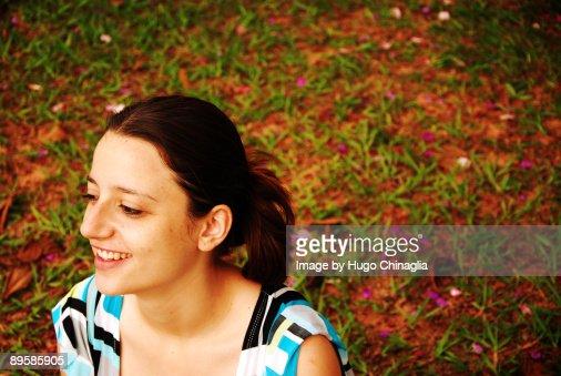 Girl Smile : Stock Photo