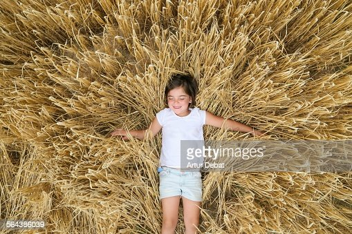 Girl In Wheat Field Stock Photos and Pictures | Getty Images