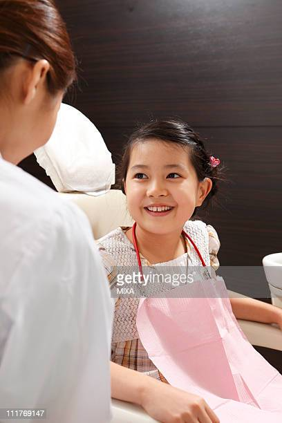 Girl Smiling on Dentist