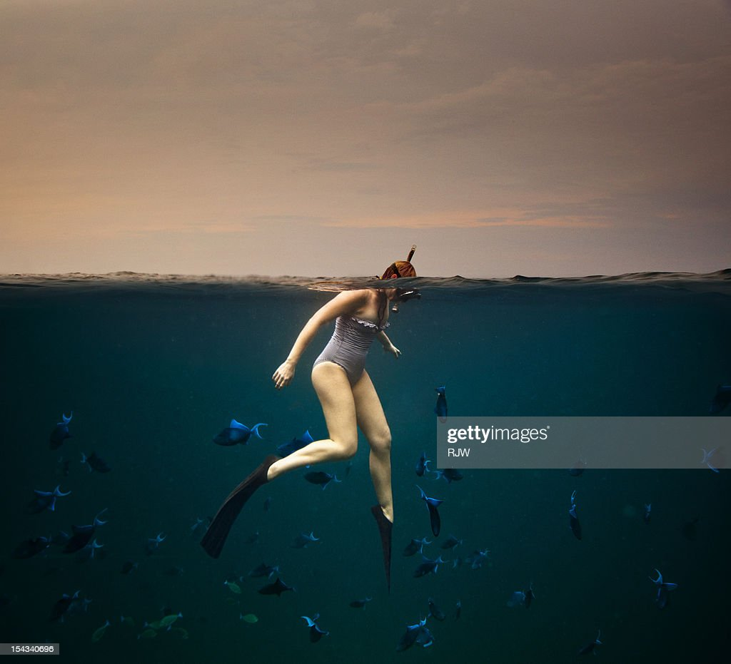 Girl Snorkelling