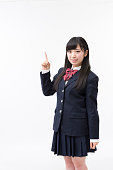 A girl student in uniform
