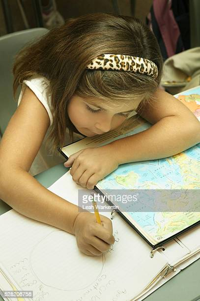 Girl Studying Geography