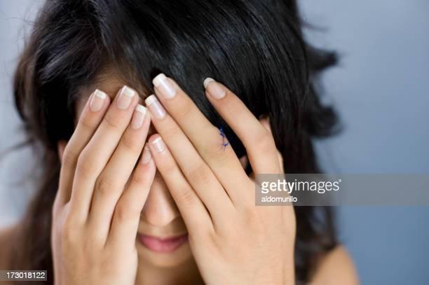 Girl suffering