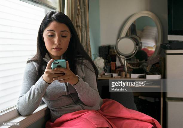 Girl  texting on a Cell Phone