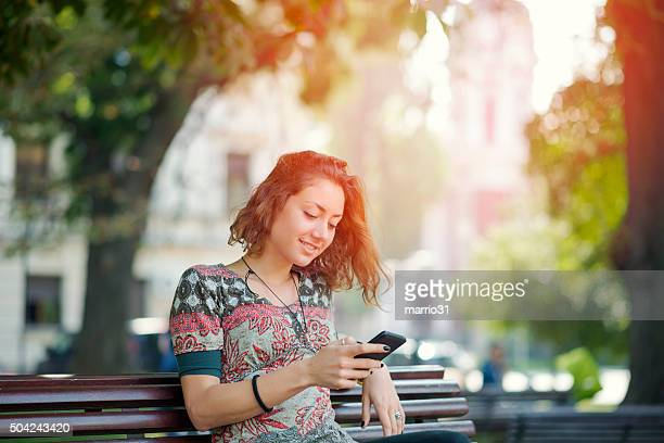 Girl texting on the phone