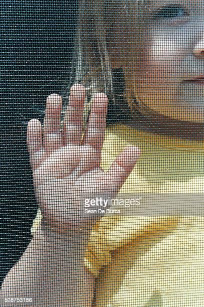 Girl Touching Screen