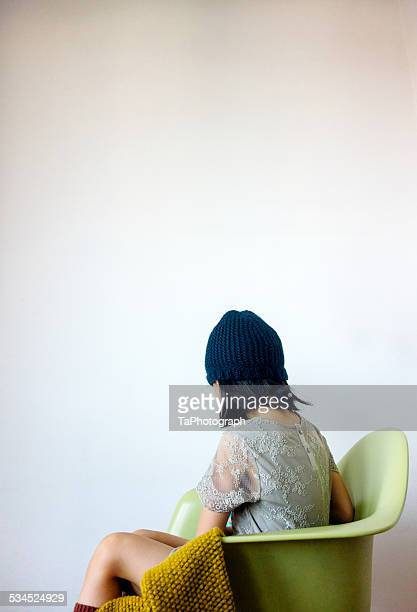 Girl turning on her chair