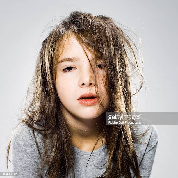 girl waking up in the morning