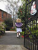 Girl Walking to School