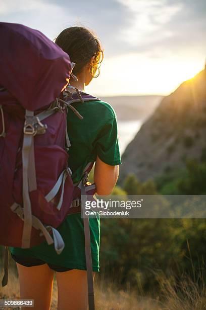 Girl walking with bag