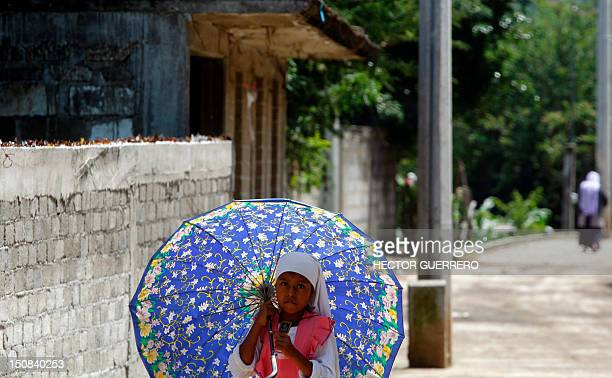 A girl walks in a street inside the Nueva Jerusalen religious community where in the last month the catholic sect in charge of the community...