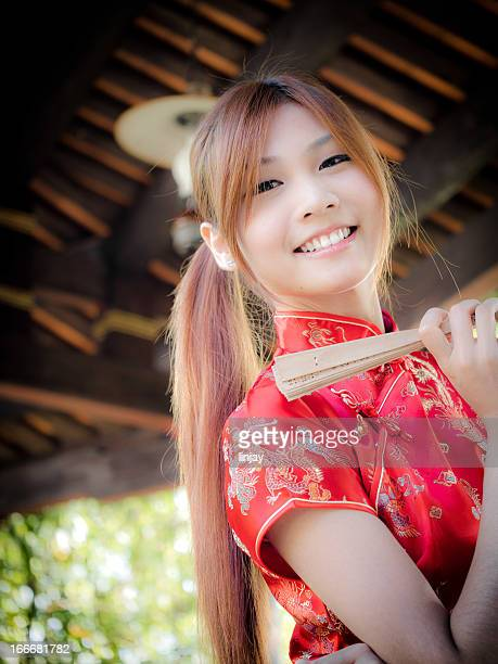 Girl wearing a cheongsam