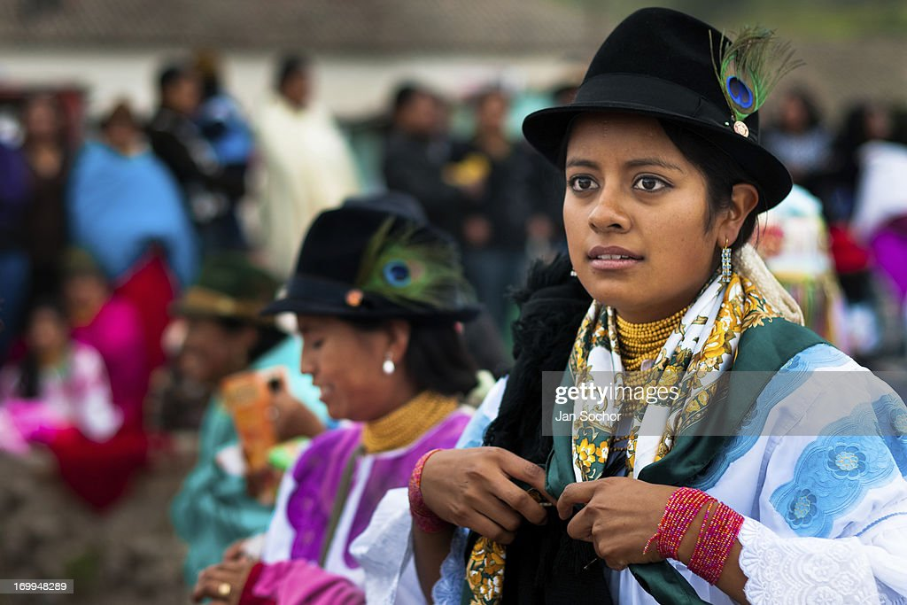 "A girl, wearing a colorful clothes, dances in a procession during the Inti Raymi celebration in the village of Pesillo, Ecuador, 26 June 2010. Inti Raymi, ""Festival of the Sun"" in Quechua language, is an ancient spiritual ceremony held in the Indian regions of the Andes, mainly in Ecuador and Peru. The lively celebration, set by the winter solstice, goes on for various days. The highland Indians, wearing beautiful costumes, dance, drink and sing with no rest. Colorful processions in honor of the God Inti (Sun) pass through the mountain villages giving thanks for the harvest and expressing their deep relation to the Mother Earth (Pachamama)."