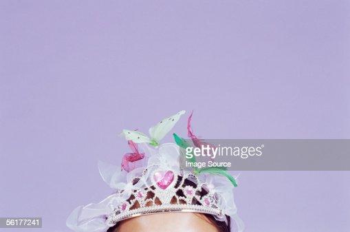 Girl wearing a decorated tiara