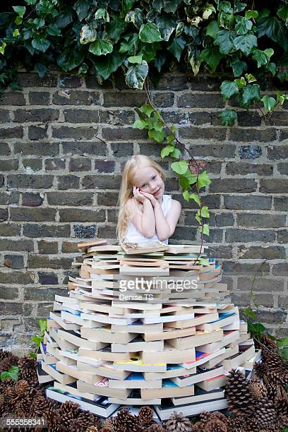 Girl wearing book clothing