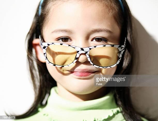 Girl Wearing Large Sunglasses