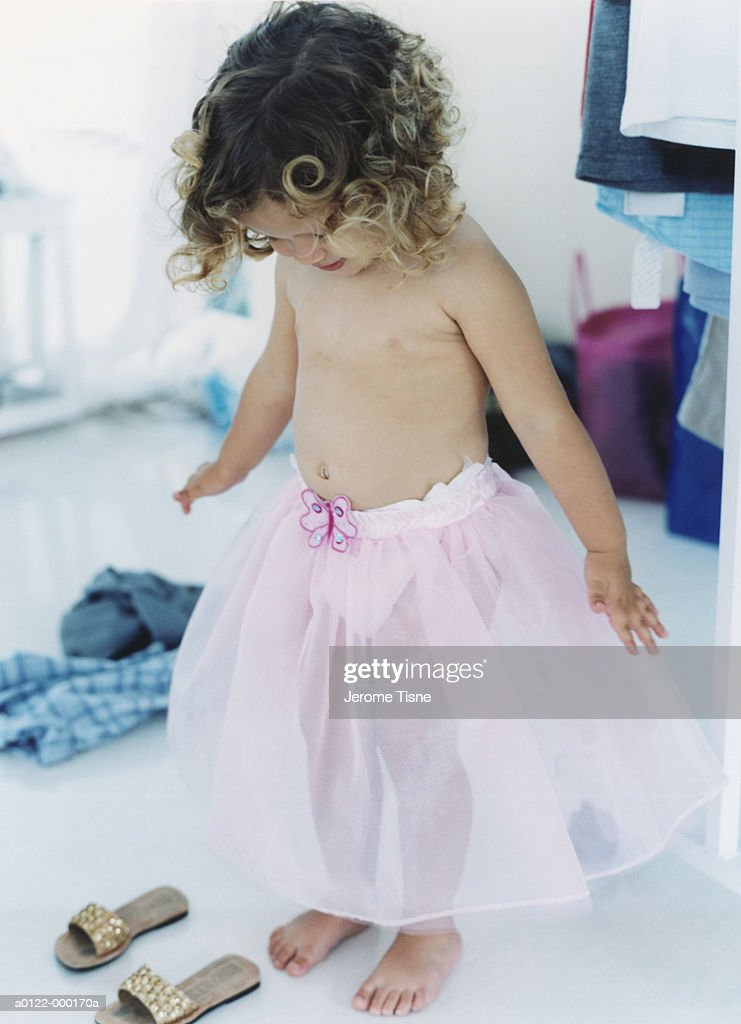 Girl Wearing Pink Tutu : Stock Photo