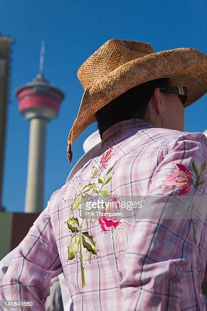 Girl wearing Stetson, Calgary Stampede, Alberta, Canada