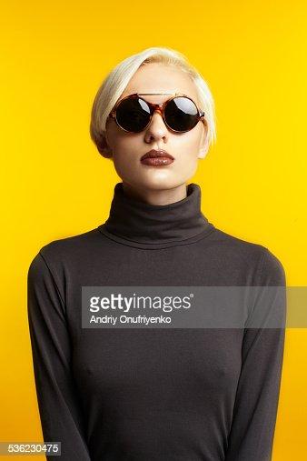 Girl wearing sunglasses