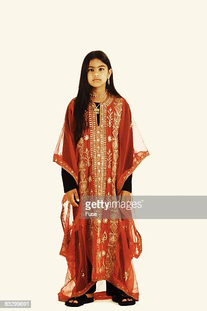 Girl Wearing Traditional Clothing