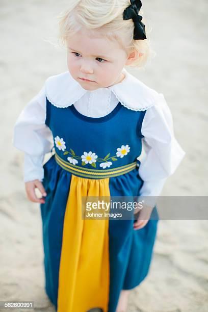 Girl wearing traditional dress