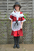 Girl wearing traditional Welsh dress