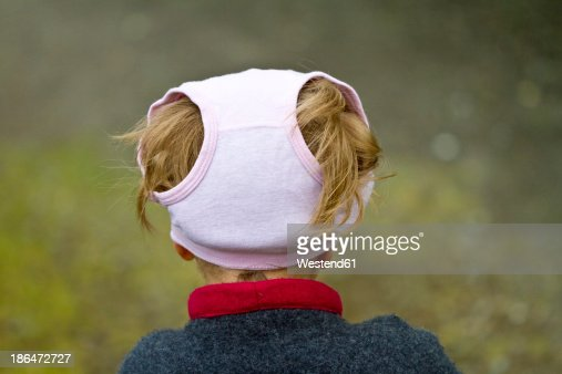 Girl wearing underpants on her head