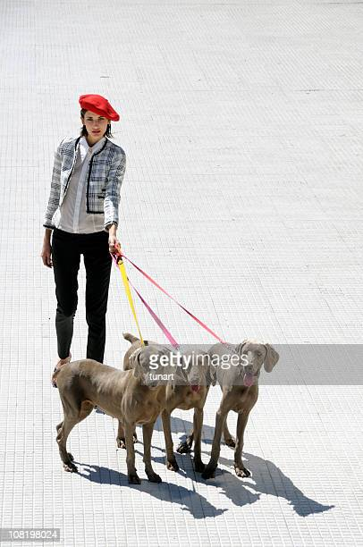 Girl With 3 Dogs