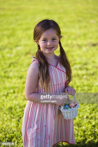 Girl with an Easter basket