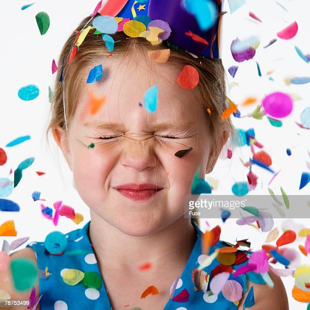 Girl With Confetti